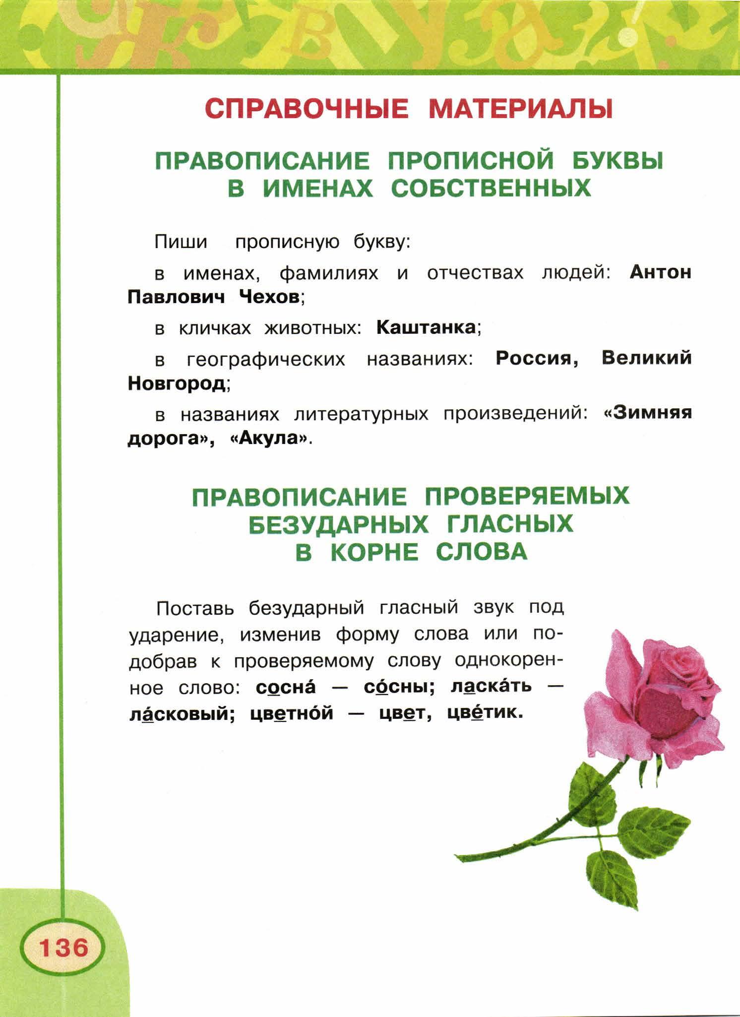 русский язык, 4 класс, 2 часть